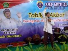 Peringati Hari Santri Nasional, siswa SMP Mutual dihibur dongeng